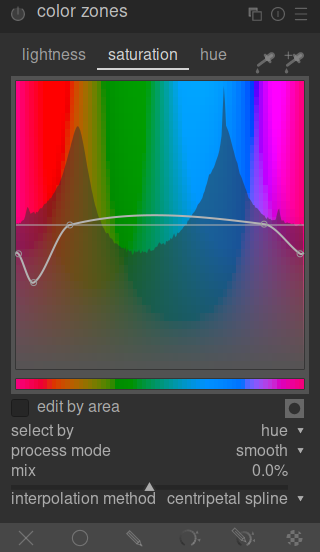 color zones adjust saturation